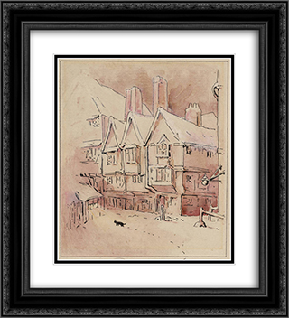 Simpkin Hears the Mice 20x22 Black or Gold Ornate Framed and Double Matted Art Print by Beatrix Potter