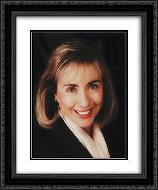 Hillary Rodham Clinton 20x24 Black or Gold Ornate Framed and Double Matted Art Print by LOC-00125u