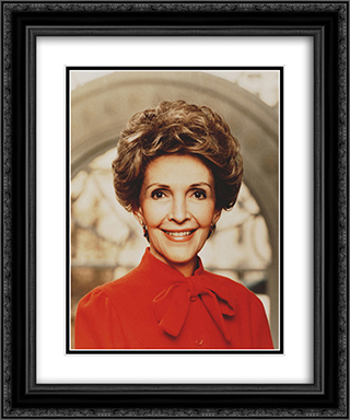 Nancy Reagan 20x24 Black or Gold Ornate Framed and Double Matted Art Print by LOC-00126u