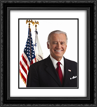 Vice President Joe Biden 20x22 Black or Gold Ornate Framed and Double Matted Art Print by LOC-00359u