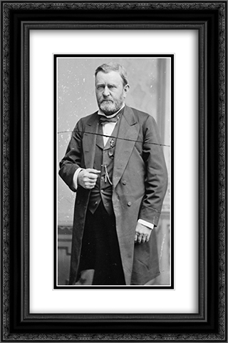 Grant, U.S. President 16x24 Black or Gold Ornate Framed and Double Matted Art Print by LOC-00631u