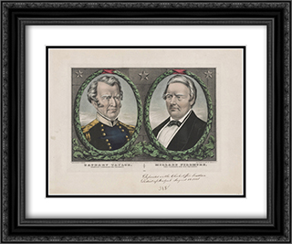 Zachary Taylor, people's candidate for President 24x20 Black or Gold Ornate Framed and Double Matted Art Print by LOC-00861u