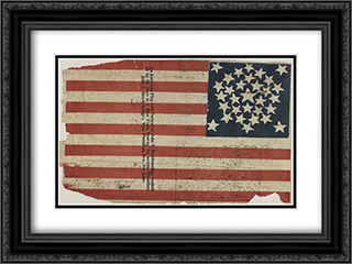 Proof for an American flag campaign banner for John C. Breckinridge and Joseph Lane 24x18 Black or Gold Ornate Framed and Double Matted Art Print by LOC-00925u