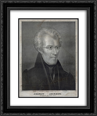 Andrew Jackson, President of the United States 20x24 Black or Gold Ornate Framed and Double Matted Art Print by LOC-01161u