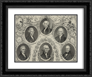 The Presidents of the United States. Liberty and union 24x20 Black or Gold Ornate Framed and Double Matted Art Print by LOC-01202u