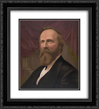 President'--'Rutherford B. Hayes' 20x22 Black or Gold Ornate Framed and Double Matted Art Print by LOC-01375u