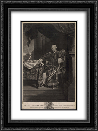 Henry Laurens Esq'r. president of the American Congress 1778 18x24 Black or Gold Ornate Framed and Double Matted Art Print by LOC-01421u