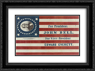 For president John Bell. For vice president Edward Everett 24x18 Black or Gold Ornate Framed and Double Matted Art Print by LOC-01638u
