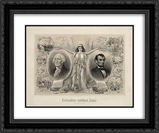 Columbia's noblest sons 24x20 Black or Gold Ornate Framed and Double Matted Art Print by LOC-01775u