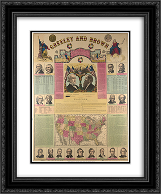 Greeley and Brown 20x24 Black or Gold Ornate Framed and Double Matted Art Print by LOC-02043u
