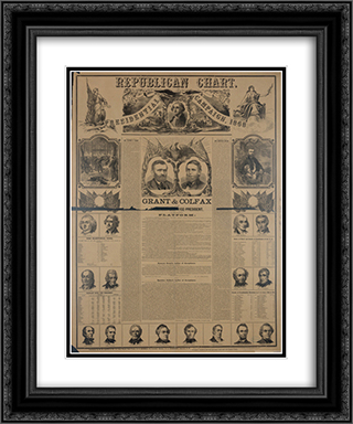 Republican chart for the presidential campaign, 1868 20x24 Black or Gold Ornate Framed and Double Matted Art Print by LOC-02048u
