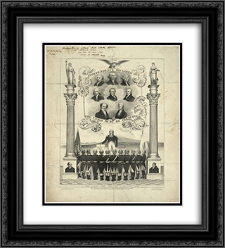 Independence declared 1776. The Union must be preserved 20x22 Black Ornate Framed and Double Matted Art Print by LOC-02221u