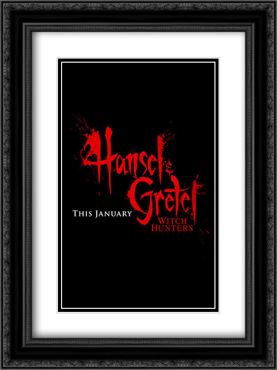 Hansel and Gretel: Witch Hunters 18x24 Double Matted Black Ornate Framed Movie Poster Art Print
