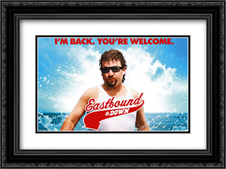 Eastbound and Down TV Series Show 24x18 Double Matted Black Ornate Framed Movie Poster Art Print