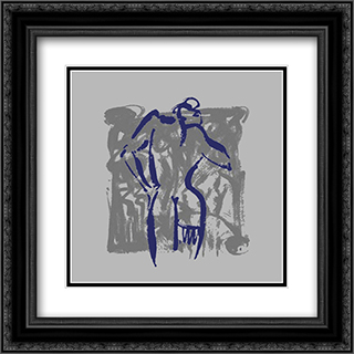 Body Language VIII 2x Matted 16x16 Black Ornate Framed Art Print by Alfred Gockel
