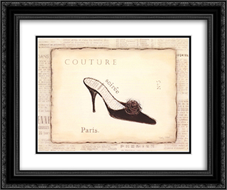 Couture 2x Matted 20x16 Black Ornate Framed Art Print by Emily Adams