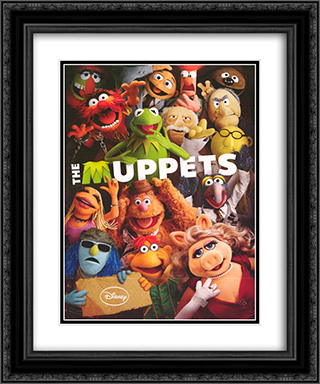 Muppet Show (Cast) 20x24 Black Ornate Framed and Double Matted Art Print by Movie Poster