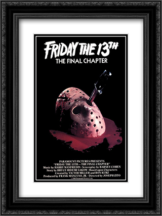 Friday the 13th (Final Chapter) 18x24 Black Ornate Framed and Double Matted Art Print by Movie Poster