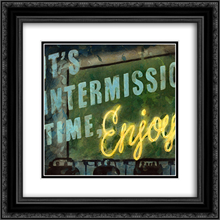 Intermission 2x Matted 17x17 Black Ornate Framed Art Print by Aaron Christensen