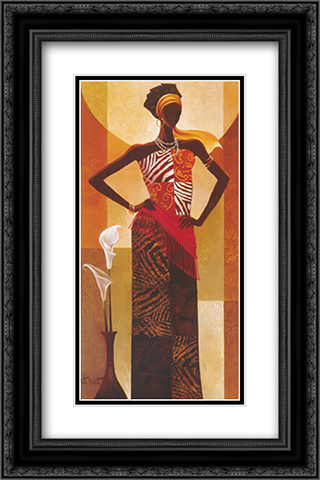 Amira 2x Matted 16x20 Black Ornate Framed Art Print by Keith Mallett