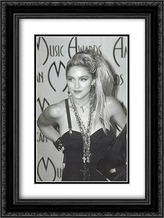 Madonna At The Music Awards 2x Matted 20x24 Black Ornate Framed Art Print