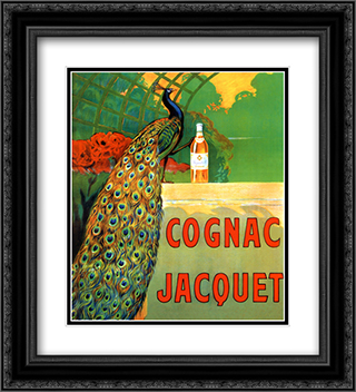 Cognac Jacquet 2x Matted 20x24 Black Ornate Framed Art Print by Leonetto Cappiello