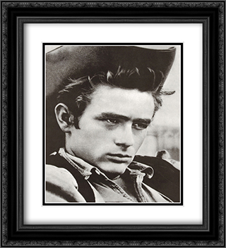 James Dean 20x22 Black Ornate Framed and Double Matted Art Print by Movie Poster