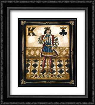 Harlequin King 2x Matted 20x24 Black Ornate Framed Art Print by Gregory Gorham