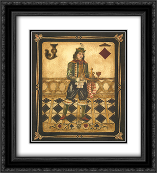 Harlequin Jack 2x Matted 20x24 Black Ornate Framed Art Print by Gregory Gorham