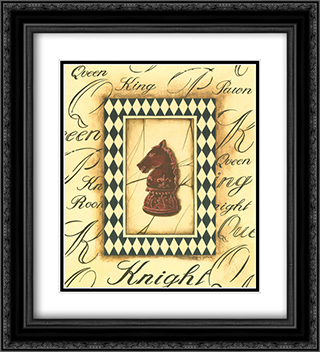 Chess Knight 2x Matted 20x24 Black Ornate Framed Art Print by Gregory Gorham