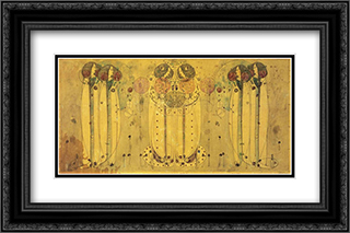 Wassail 2x Matted 24x16 Black Ornate Framed Art Print by Mackintosh