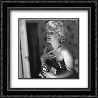 Marilyn Monroe Chanel No. 5 20x20 Black Ornate Framed and Double Matted Art Print by Movie Poster