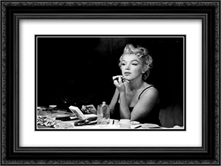 Marilyn Monroe, Backstage 24x18 Black Ornate Framed and Double Matted Art Print by Movie Poster