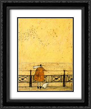 Watching the Starlings 2x Matted 20x24 Black Ornate Framed Art Print by Sam Toft