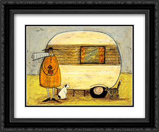 Home from Home 2x Matted 24x20 Black Ornate Framed Art Print by Sam Toft