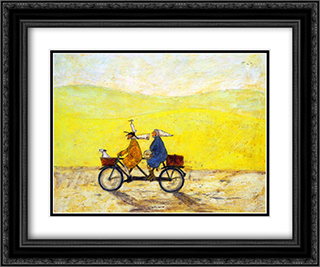 Grand Day Out 2x Matted 24x20 Black Ornate Framed Art Print by Sam Toft