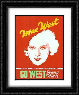 Go West Young Man 20x24 Black Ornate Framed and Double Matted Art Print by Movie Poster
