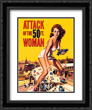 Attack Of The 50Ft Woman 20x24 Black Ornate Framed and Double Matted Art Print by Movie Poster
