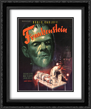 Frankenstein 20x24 Black Ornate Framed and Double Matted Art Print by Movie Poster