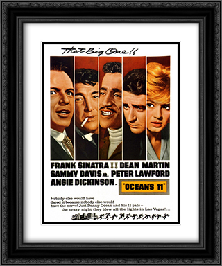 Ocean's Eleven 20x24 Black Ornate Framed and Double Matted Art Print by Movie Poster
