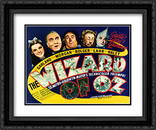 The Wizard of Oz 24x20 Black Ornate Framed and Double Matted Art Print by Movie Poster