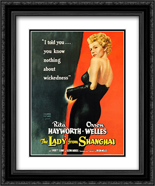 The Lady from Shanghai 20x24 Black Ornate Framed and Double Matted Art Print by Movie Poster