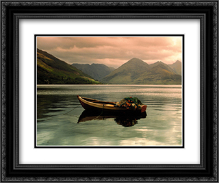Lake Duich, Highlands, Scotland 2x Matted 20x24 Black Ornate Framed Art Print by A. Blair