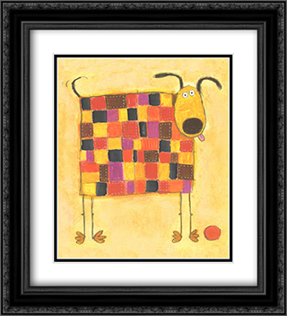 Patch, Football Champion Of The World! 2x Matted 20x24 Black Ornate Framed Art Print by Richard Barrett
