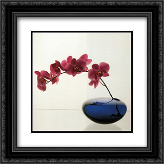 Orchids, 1985 2x Matted 20x24 Black Ornate Framed Art Print by Robert Mapplethorpe