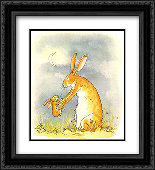 Guess How Much I Love You? 2x Matted 20x24 Black Ornate Framed Art Print by Anita Jeram