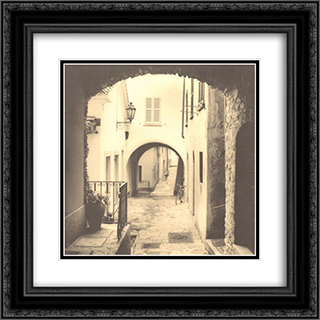 Varenna, Lago di Como 2x Matted 20x24 Black Ornate Framed Art Print by Alan Blaustein