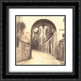 Asolo, Veneto 2x Matted 20x24 Black Ornate Framed Art Print by Alan Blaustein