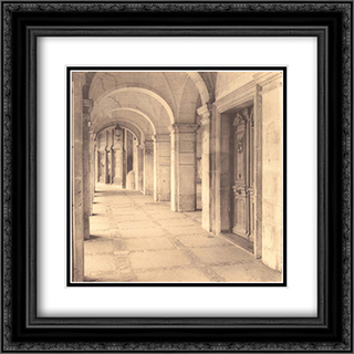 Salamanca, Castilla y Leon 2x Matted 20x24 Black Ornate Framed Art Print by Alan Blaustein