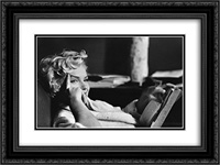 Marilyn Monroe 24x18 Black Ornate Framed and Double Matted Art Print by Movie Poster